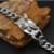 HIP 22.5 cm Cadeia Águia Do Punk Do Vintage Pulseira de Prata Banhado A Pulseira de Aço Inoxidável para Homens Jóias
