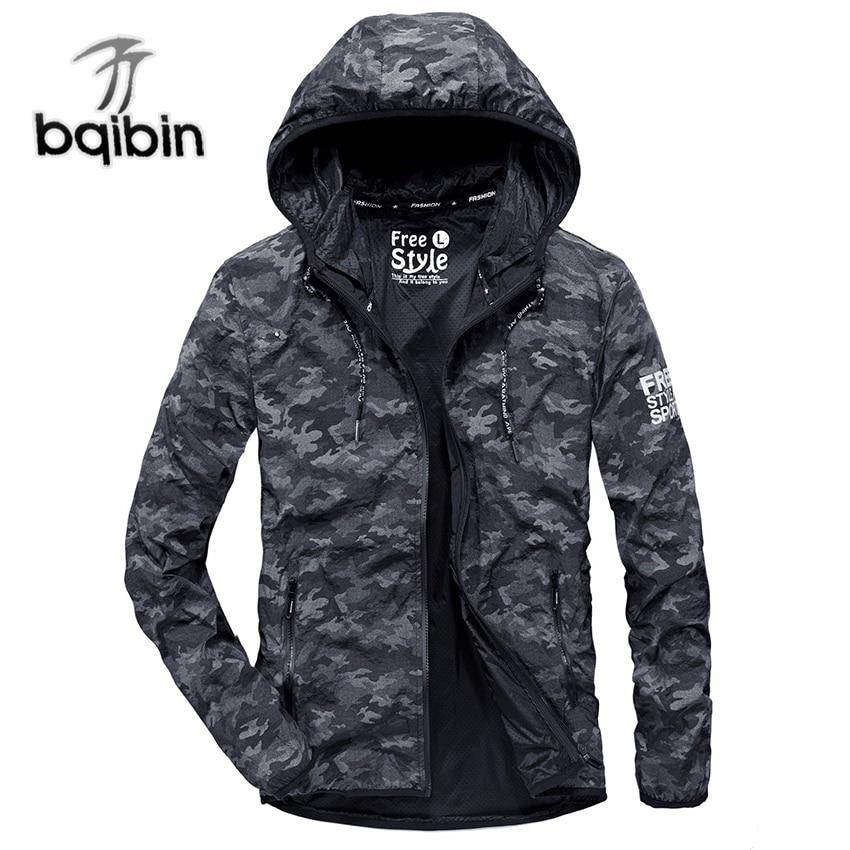 2018 Camouflage Coupe-Vent Veste Hommes Marque Biaoqibing À Séchage Rapide Hommes Printemps Veste Armée Style Jaqueta Masculina