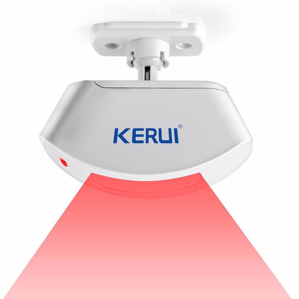 Бесплатная Доставка KERUI Беспроводная Занавес Окна Motion Датчик Для Безопасности Контролируется GSM сигнализация 433 МГЦ Инфракрасный Датчик