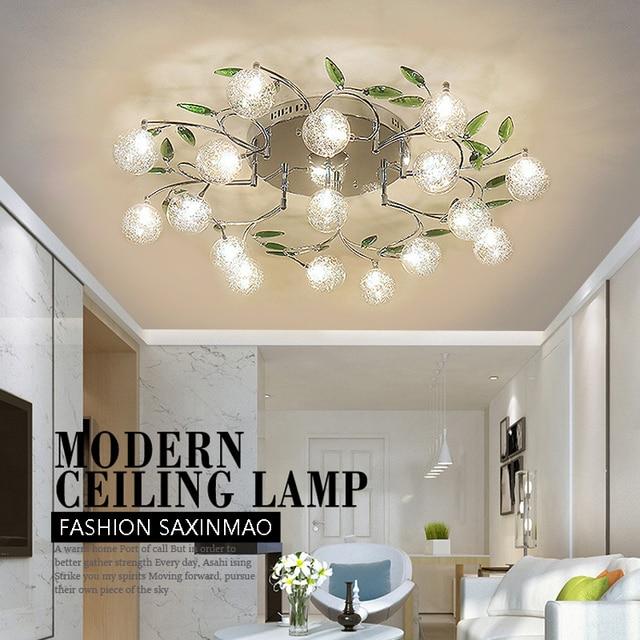 SXHINMAO LED woonkamer verlichting kristal tuin eenvoudige sfeer art ...