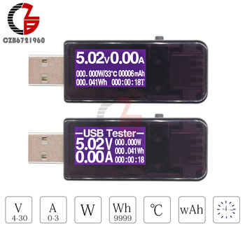 7-in-1 USB Charger Tester Digital Voltmeter Thermometer Ammeter Wattmeter Timer Power Capacity Temperature Voltage Meter USB 3.0