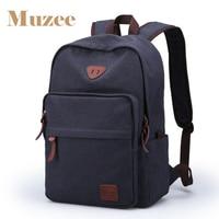 Muzee Men S Backpack High School Bag College Style Recreational Canvas Backpack Travel Laptop Bag
