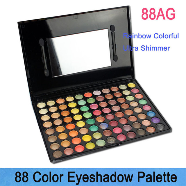 2016 Olympics Brand 88 Colors Eyeshadow Palette Easy to Wear and long-lasting with Brushes inside Earth Colors Make up shadow