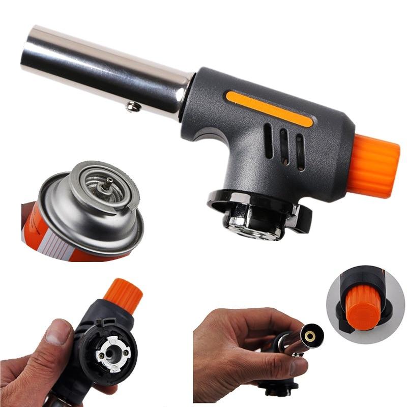 Werkzeuge Flammenwerfer Brenner Butan Gas Lötlampe Hand Zündung Camping Schweiß Bbq Werkzeug