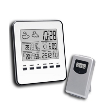 Wireless LCD font b Digital b font Home font b Thermometer b font Hygrometer Silver Weather