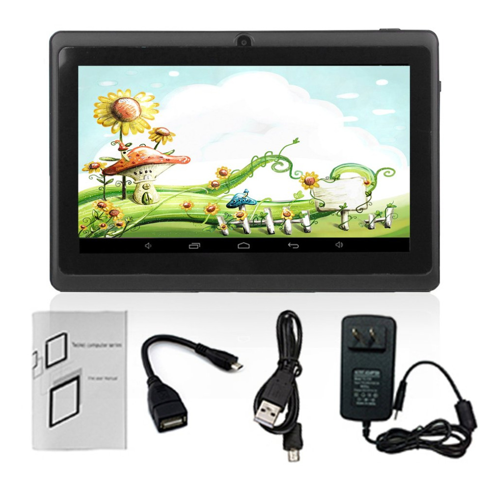7-Inch HD Touch Screen EU Plug Children Tablet PC Quad-Core 512MB+8GB Students Learning Tablet Birthday Gift Support TF Card taifeng 7 tf 7901 touch screen handwritten screen capacitance screen tablet fm700405ka