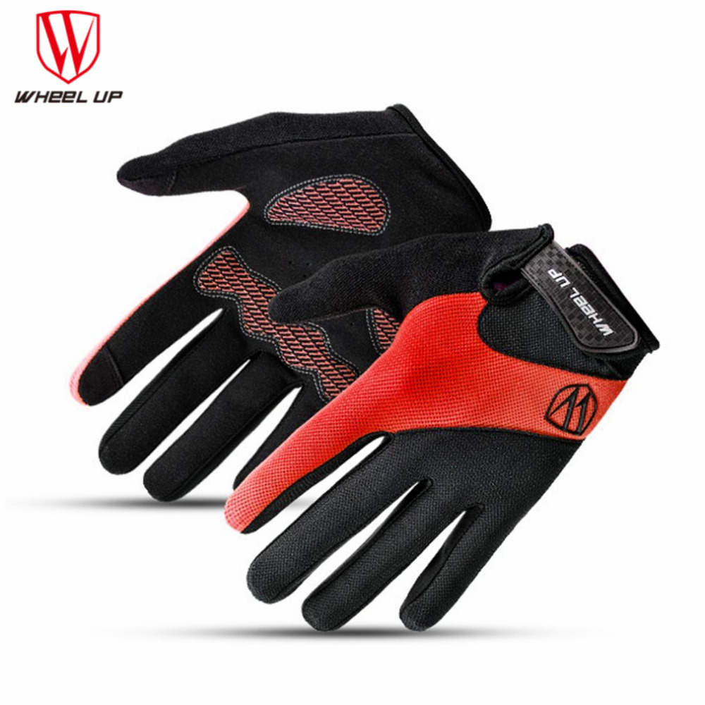 WHEEL UP Shockproof Anti-Slip Men Women Touch Screen Bike Gloves MTB Road Bike Long Finger Breathable Summer Motorcycle Gloves