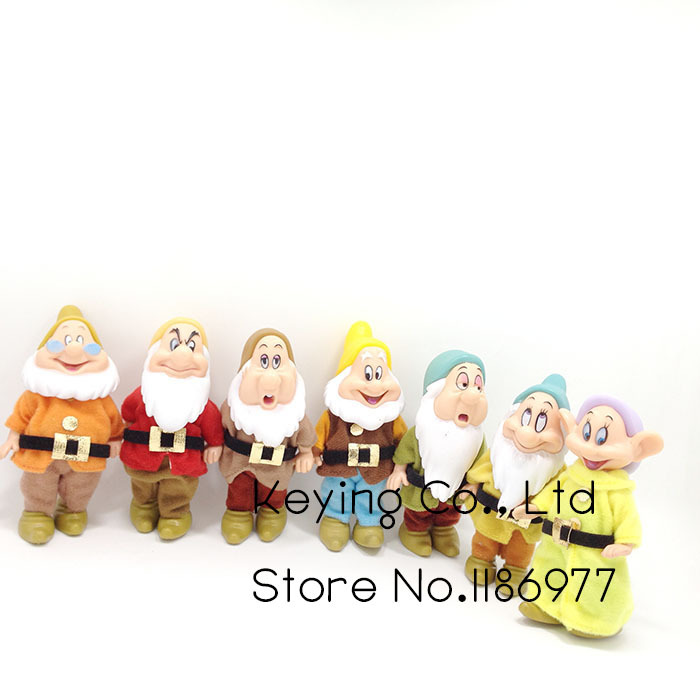 Action-Figure Doll Bashful Limited-Collection Happy Seven Dwarfs Snow-White Dopey 7pcs/Lot