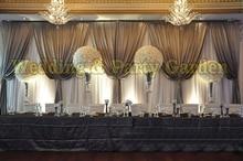 3m*6m Luxury Wedding Backdrop with Beatiful Swag Wedding drape and curtain marriage decoration