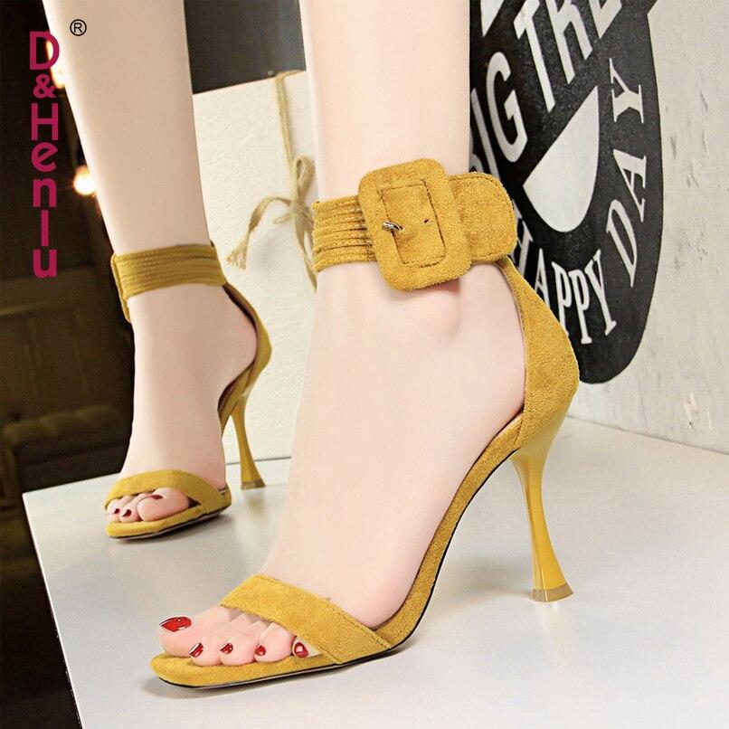 Strap ankle Alto Dedos amp; Las Los Correa Con Tobillo Pies Sandalias Sandals Mujeres Damas Tacón Sandals Henlu} Mujer Ankle Verano De Zapatos Bombas Tacones Abierto {d BqSCwvv