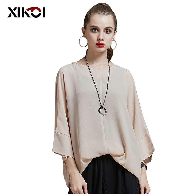 2017 el verano más tamaño tapas de la blusa de las mujeres camisas blusas túnica