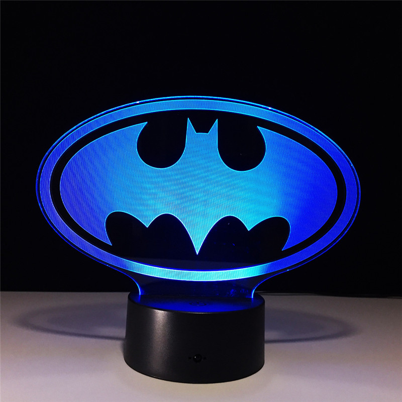 Batman: The Dark Knight Returns Batman Bruce Wayne DC Comics Robin 3D With LED Light Action Figure Night Lamp Model Toy L1140