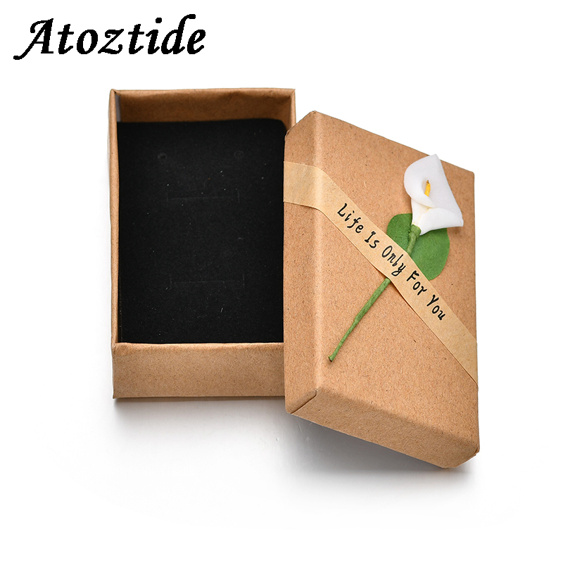 Atoztide 1pc Red Organza Bag Lace Up Black Velvet Pouch Bag Jewelry Packaging Displaying Wedding Party Decoration Gift Box