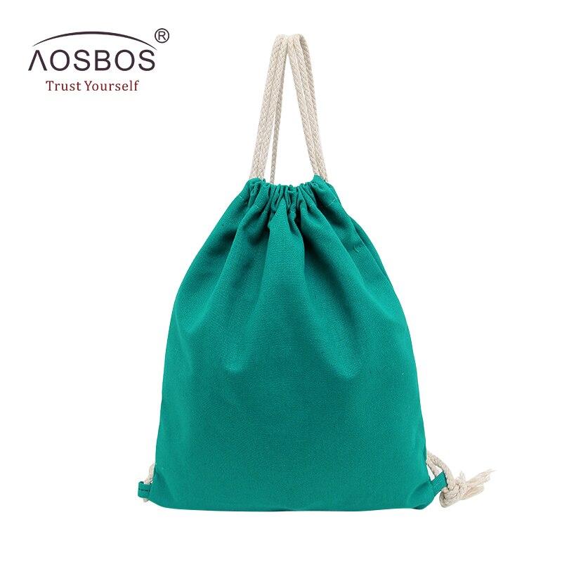 ce9c15facb Aosbos 2019 Canvas Drawstring Backpack Girls Women Sport Gym Bag Outdoor  Training Fitness Bag Durable Travel