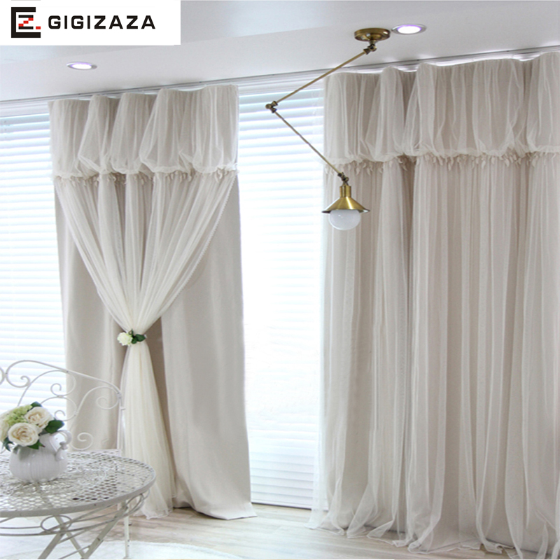 Torino Tassels Lanterns Head Top Curtain Ivory Color Cloth