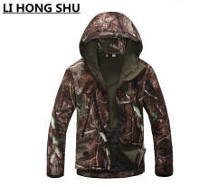 jacket men TAD V 4.0 Men Lurker Shark skin Soft Shell  Camping Waterproof Windproof Jacket Tactical Sports Army Clothing Tan
