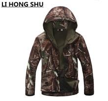 цена на jacket men TAD V 4.0 Men Lurker Shark skin Soft Shell  Camping Waterproof Windproof Jacket Tactical Sports Army Clothing Tan