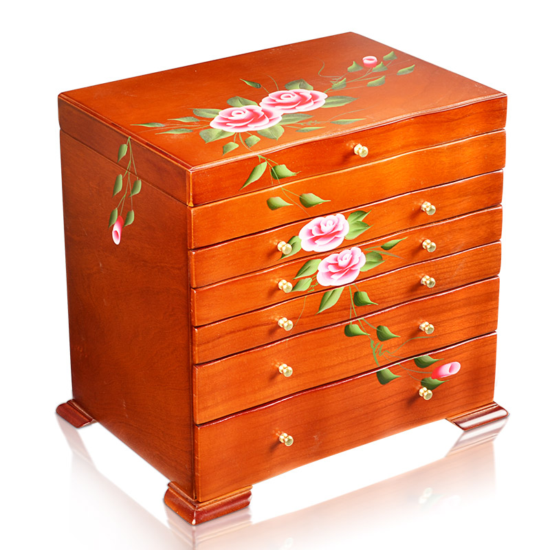 Wedding Preservation Boxes: European Princess Large Space Wood Jewelry Box Wooden