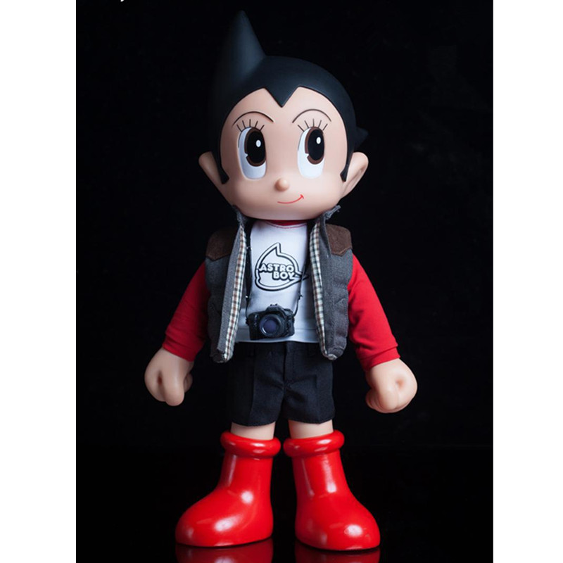 Tetsuwan Atom Master Series 10 Cute Cartoon Astroboy Real Clothes PVC Action Figure Model Toy G505 astroboy tetsuwan atom minifigures minecraft building blocks betty toby hedgehog girl birthday figure kids toys action 0751
