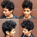 New Short Hair Wigs For Black Women Vogue Female Black Short Curly Synthetic Perruque Celebrity Hairstyle Synthetic Cheap wigs
