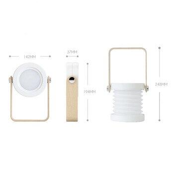 Novo USB LED de Carregamento Luz Mesa de Leitura Portátil Ao Ar Livre Pequena Lanterna Lâmpada de Acampamento Dobrável Luz SF66