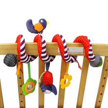 Infant Cartoon Animal Bed Hanging Bed Bell Bird Soft Plush Toy Baby Rattle Toy Crib Around Doll Baby Toy Gift