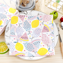 10pcs Watermelon fruit food-grate Printed napkin paper servilletas decoupage decorated Virgin Wood Tissue 33*33cm