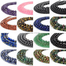Natural Assorted Mixed Gem Round Loose Strand Stone Beads for DIY Necklace Bracelet Jewelry Making Pick Size 4 6 8 10 12 14mm(China)