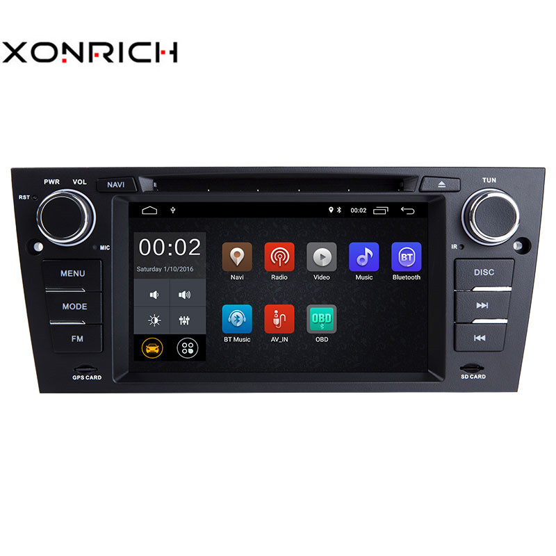 Xonrich AutoRadio1 Din Android 8.1 Car DVD Player For 3 Series BMW E90/E91/E92/E93 Navigation Head Unit Audio Stereo Wifi 2+32GB