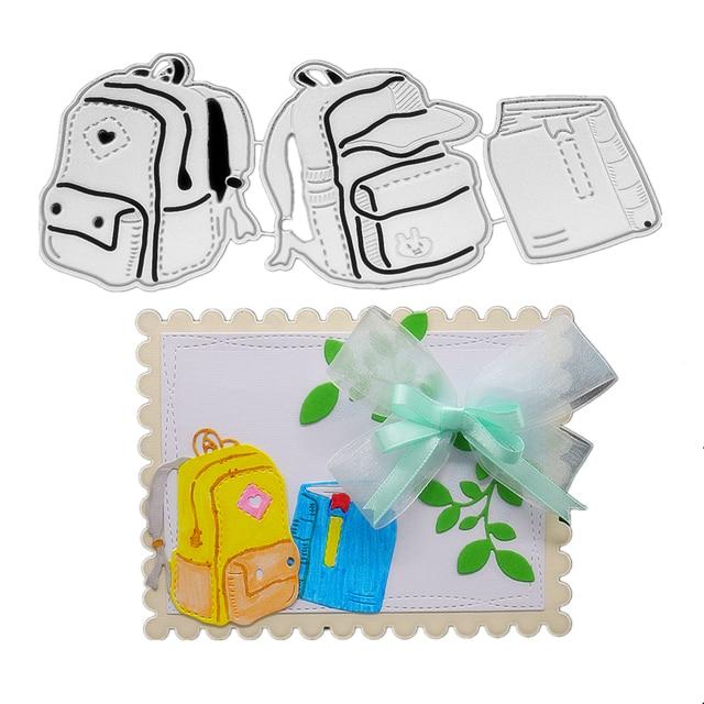 14.8x6.7cm School Bag 3D Cut Die DIY Scrapbooking Album Paper Gift ...