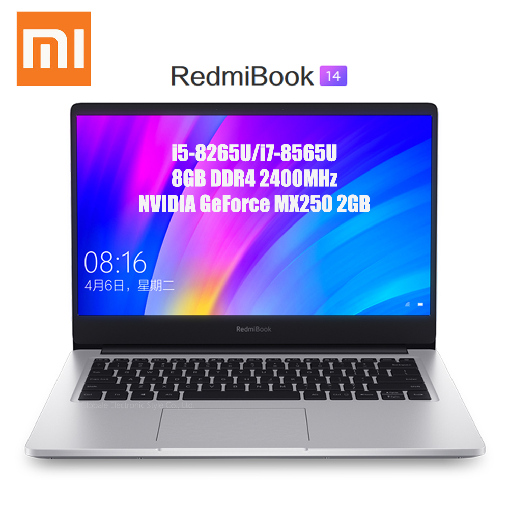 Xiaomi Redmibook 14 ordinateur portable Intel Core i5-8265U/i7-8565U 8GB DDR4 2400MHz RAM NVIDIA GeForce MX250