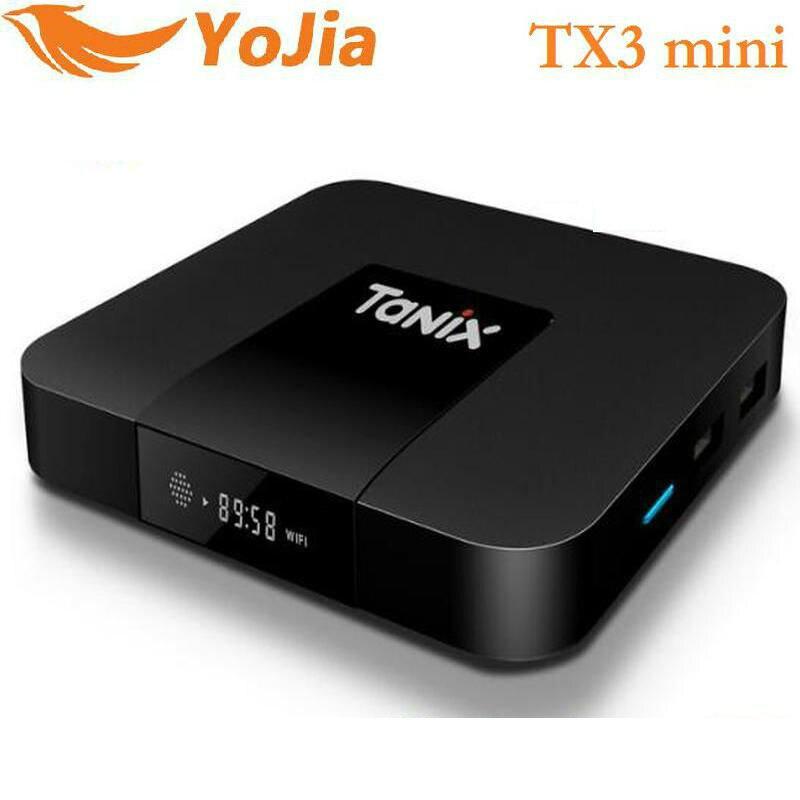 Astuto di Android 7.1 TV BOX TX3 Mini Amlogic S905W 2GB16GB Quad Core H.265 4 K 2.4 GHz WiFi Media Player tvBox tanix TX3 mini 1 GB 8 GB