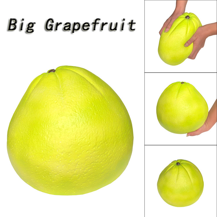 Jumbo Giant Grapefruit Slow Rising Fruit Scented Stress Relief Toys
