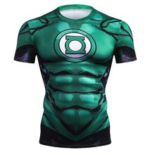 2018 New Green Lantern 3D Printed Men T Shirt Summer Crossfit Fitness T-Shirt Compression Short Sleeve Fashion Funny Men Tshirt(China)