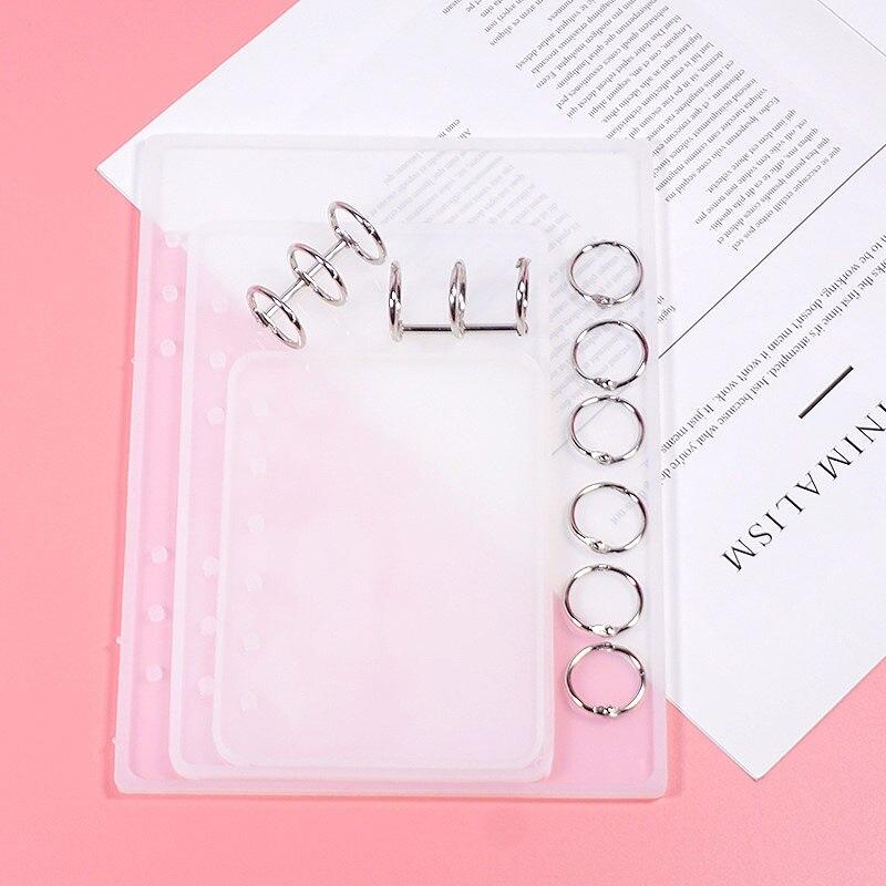 Mais barato a7/a6/a5 caderno forma silicone molde diy resina livro molde de cristal cola epoxy silicome molde livro transparente silicone molde