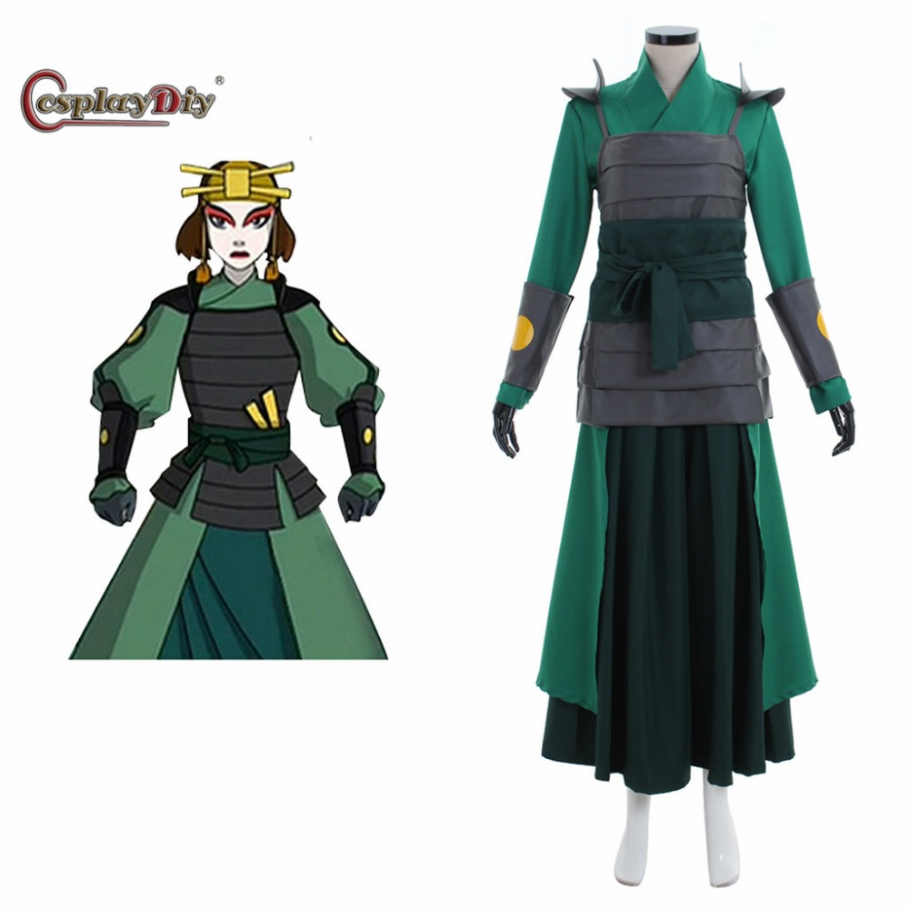 Cosplaydiy Avatar The Last Airbender Cosplay Kyoshi Warriorsm Cosplay Costume Adult Men Halloween Cosplay Outfit Custom Made
