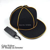 Steady On Inverter EL Wire Glowing Hip Hop Cap Led Strip Light Up Glowing Product Make