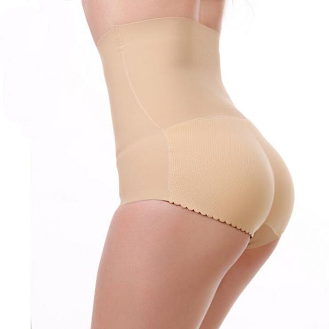 Mulheres calcinha sexy calças fundo nádegas abundantes ass underwear cintura alta calcinha sem costura cuecas femininas