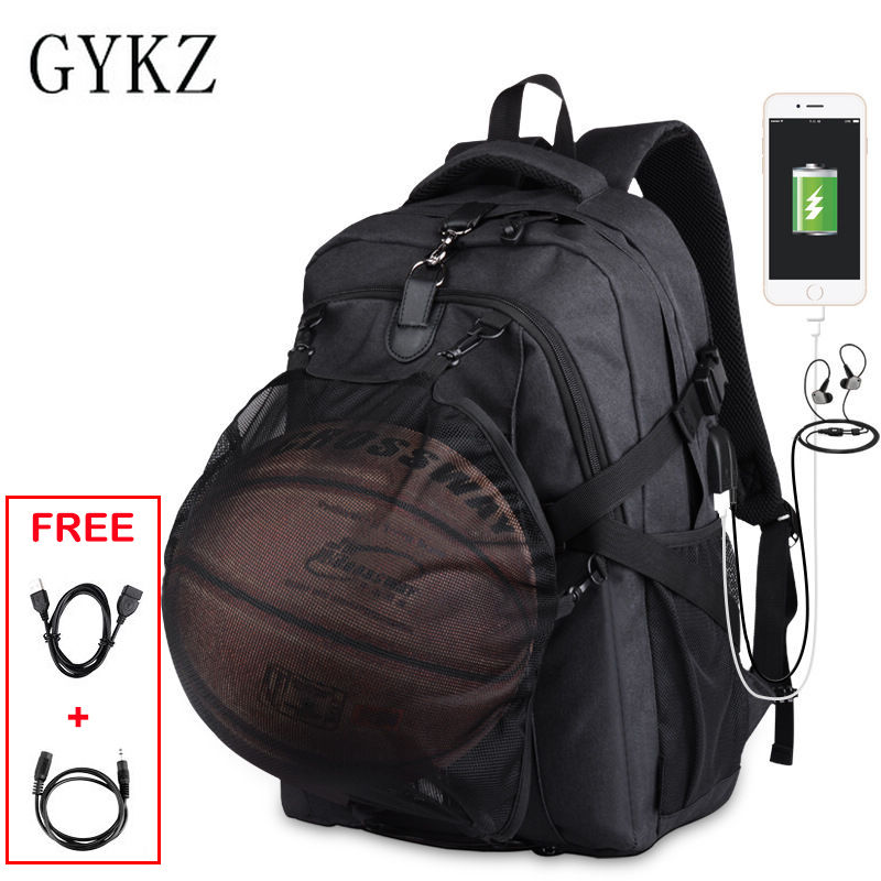 GYKZ New Design Men Sport Basketball Backpack Anti-theft Outdoor Tourist Backpack Waterproof Hiking Camping Backpack 2018 HY154