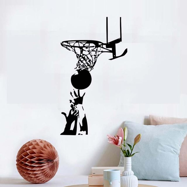 Pitched Basketball Wall Sticker Sports China Wallpaper Kids Wall Stickers  Waterproof Art Vinyl Decal For Boys Room Decor