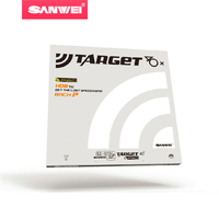 Sanwei TARGET Europe 40 National 40 FX Table Tennis Rubber For Plastic Balls With Sponge Ping