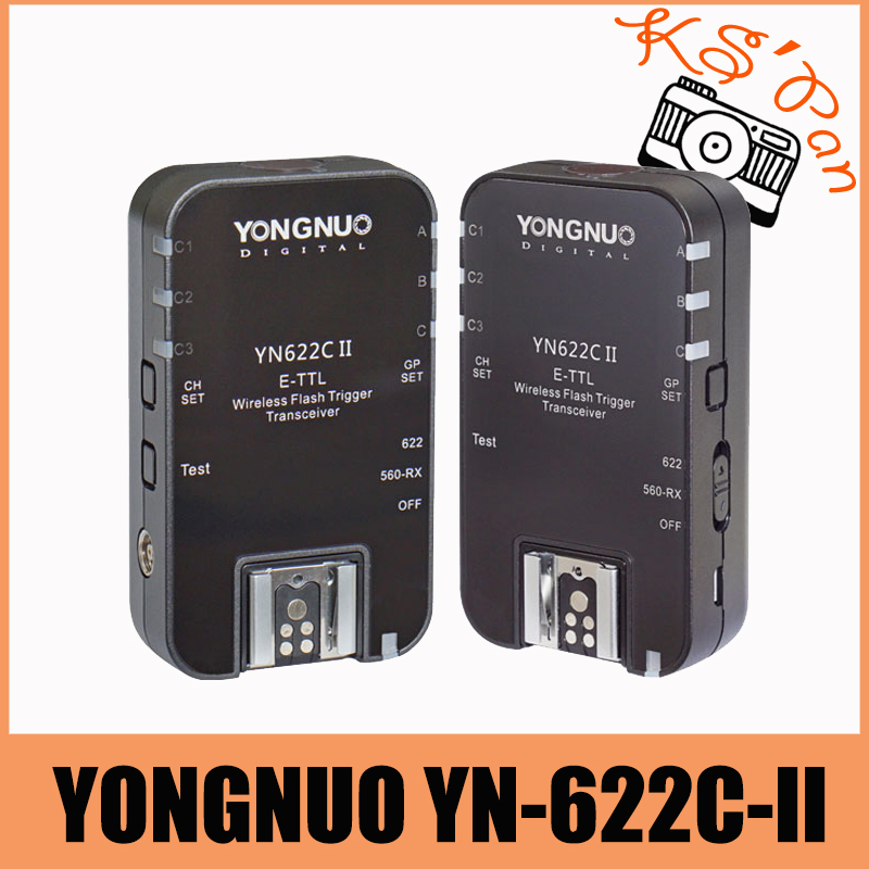 YONGNUO YN622C II HSS E-TTL Flash Trigger for Canon Camera Compatible With YN622C YN560-TX RF-603 II RF-605 yongnuo yn e3 rt ttl radio trigger speedlite transmitter as st e3 rt compatible with yongnuo yn600ex rt