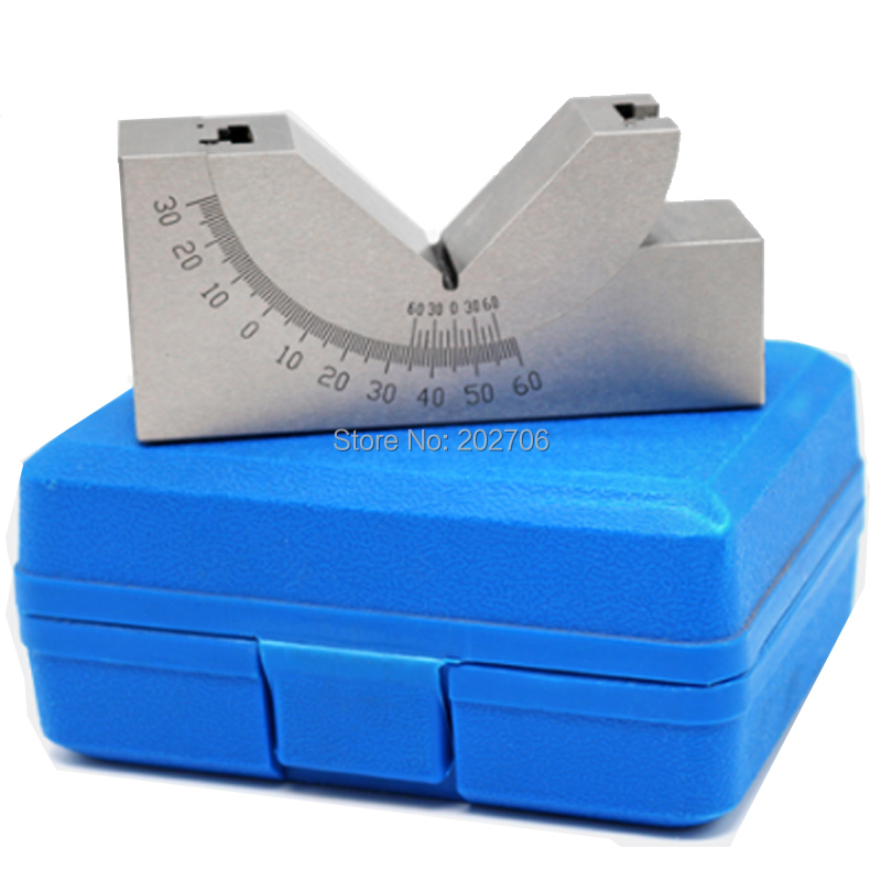 AP25 Tools Maker Precision Gauge Micro Adjustable Angle V Block Milling Setup 0 To 60 Degree Angle Plate Angle Block Angle Gauge