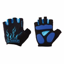 Unisex Non-Slip Breathable Cycling Gloves Summer Sports Mittens Gel Padded Antiskid Palm Bicycle Cycling Half Finger Gloves