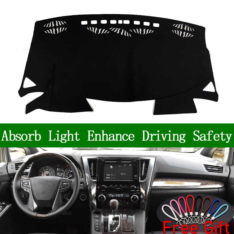 สำหรับ Toyota ALPHARD 2015 2018 Dashboard Cover Sun Shade Non - slip Dash Mat Pad พรมสติกเกอร์รถอุปกรณ์ตกแต่งภายใน