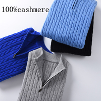 Cashmere Sweater Men Casual O Neck Pullover Men Autumn Slim Fit Long Sleeve Shirt Mens Sweaters Knitted Cashmere Wool Pull Homme