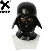 XCOSER Star Wars 4 New Hope Black Knight Darth Vader Helmet Cosplay Props Full Head Face Mask Costume Black Helmets Accessories