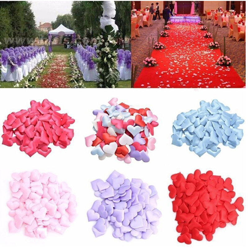 2019 New Fashion Cloth Heart-shaped Fabric Artificial Flowers DIY Valentine's Day Decoration Scatter Confetti Wedding Hot Sale