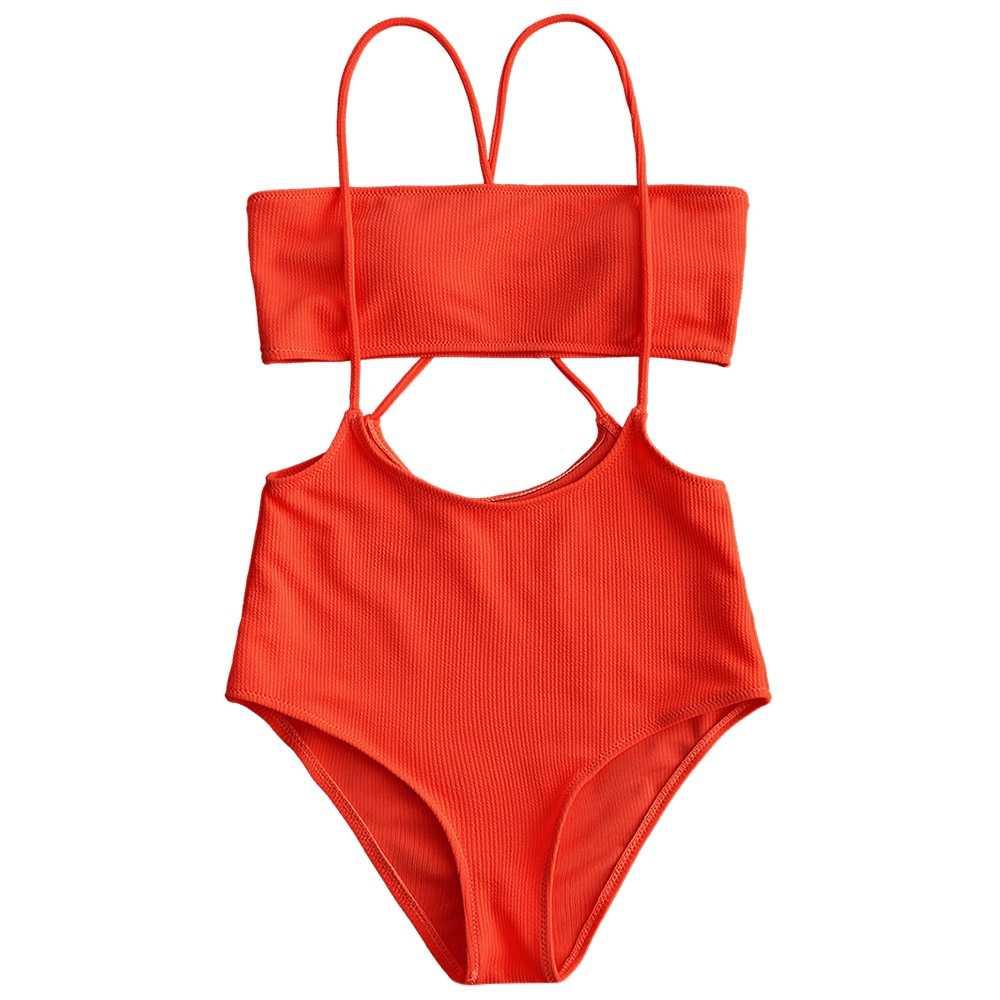 女性ビキニセット水着ホットストラップレストップと高層キャミ水泳ボトムス水着女性ハイウエストパッド入りビーチ水着