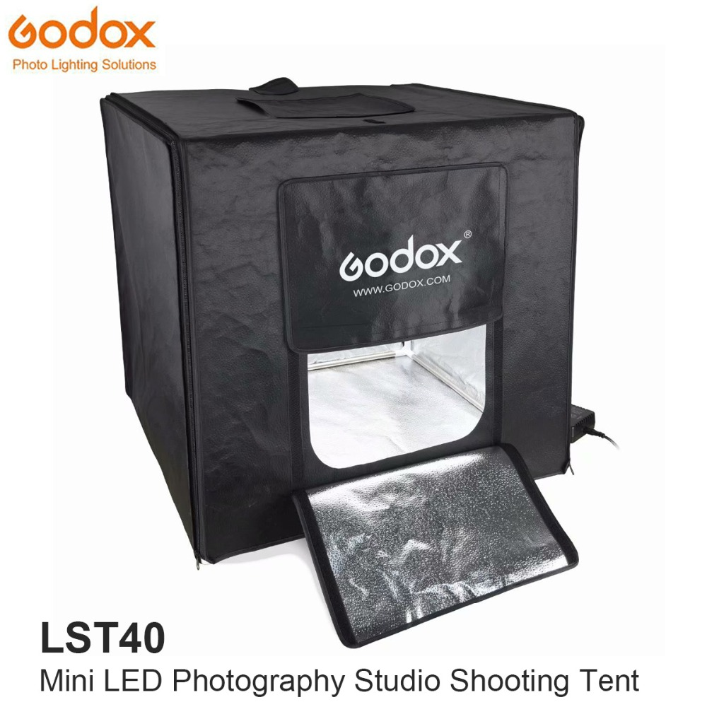 Godox Mini LED Photography Studio Shooting Tent 40 40 40cm LST40 3PCS LED lamp band Power